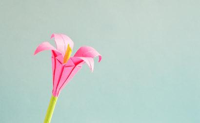 kwiat z origami